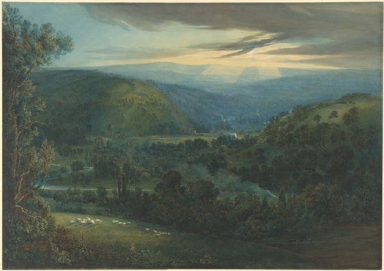 Turner, Joseph Mallord William: Dawn in the Valleys of Devon. Fine Art Print/Poster. Sizes: A1/A2/A3/A4 (003543)